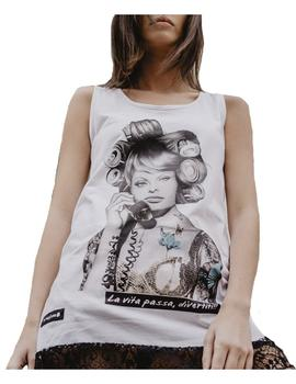 Camiseta tirantes Sophia Loren Be Happiness