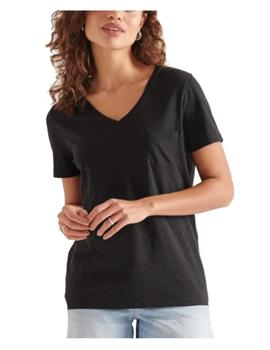 Camiseta pocket v neck tee Suprdry