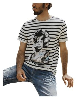 Camiseta unisex rayas Sophia Loren Be Happiness