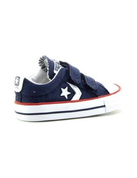 Zapatilla Star Player 3V OX Infant velcro azul Converse