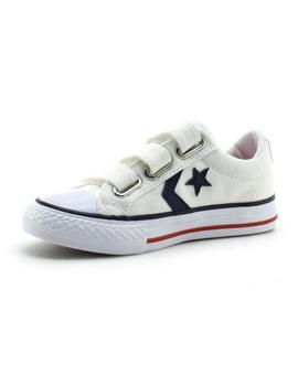 Zapatilla Star Player 3V OX Youth velcro blanco Converse