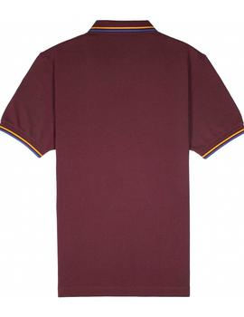 Polo Q3 6410 burdeos Fred Perry